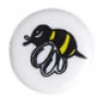 Bead Discs Bumble Bee 19mm Yellow/Black